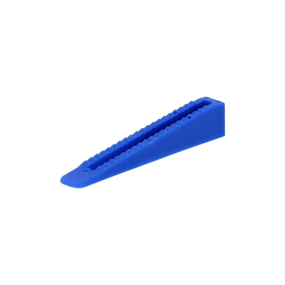 Nivelliersystem-Keile-Verlegehilfe-Fliesenkeil-Blau-100-Stueck