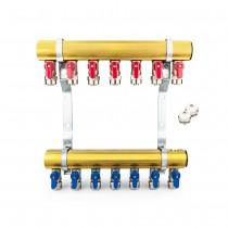 Messing Zentralheizung Verteiler 45 - entwickelt (PEX Ventile, Lüftungsöffnungen mit einem Schlüssel)